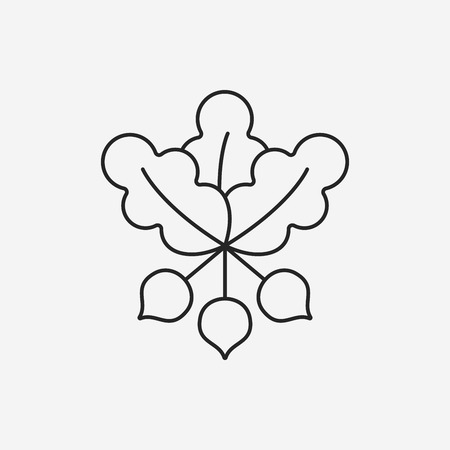 agriculture icon: vegetables line icon Illustration