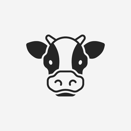 vaca caricatura: icono de la vaca