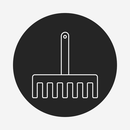 hand shovels: gardening shovel line icon