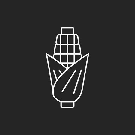 agriculture icon: corn line icon