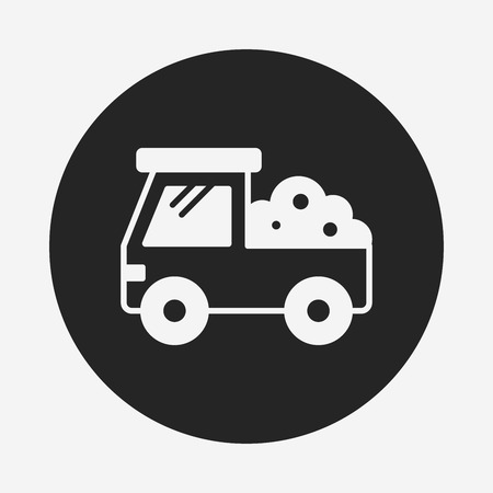 cargo truck icon Illustration