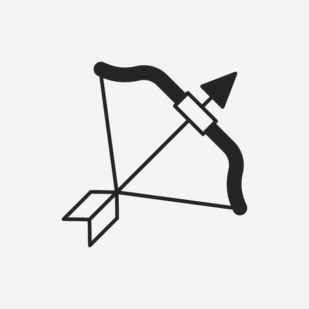 bow and arrow: Bow and arrow icon
