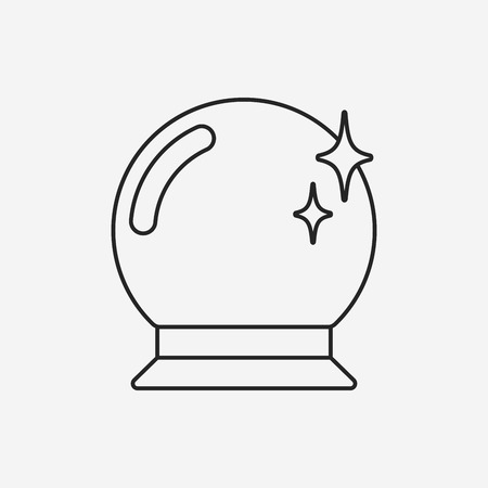 crystal ball icon Vectores