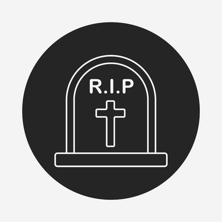 Grave line icon