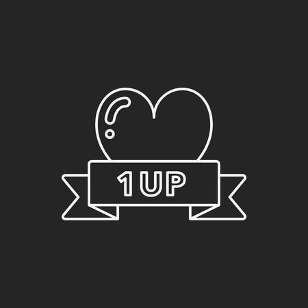 life line: game life line icon Illustration