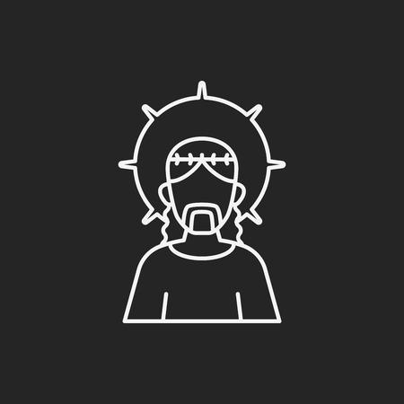 redeemer: Jesus line icon Illustration