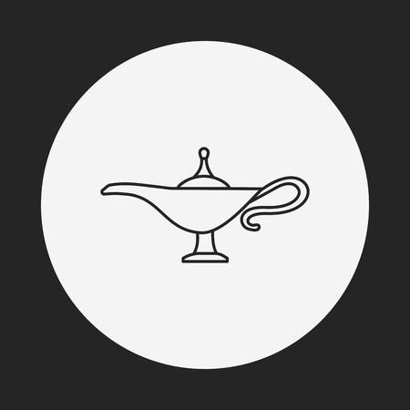 lampara magica: Icono de línea de Magic Lamp