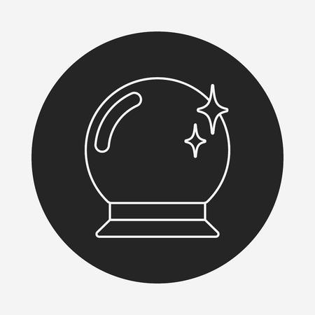 crystal gazing: crystal ball icon Illustration
