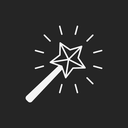 magia: icono de la varita mágica Vectores