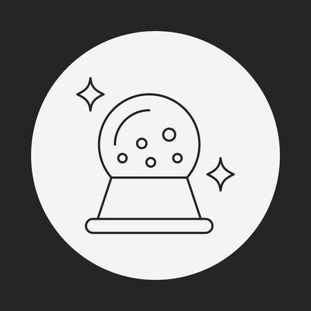 gazing: crystal ball line icon