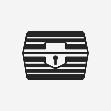 treasure box: Treasure icon Illustration