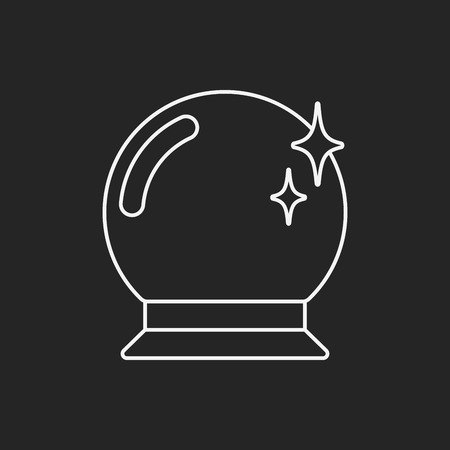 gazing: crystal ball icon Illustration