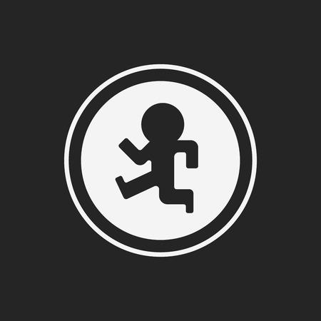 pedestrian sign: Pedestrian sign icon