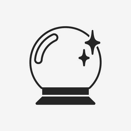 glass ball: crystal ball icon Illustration