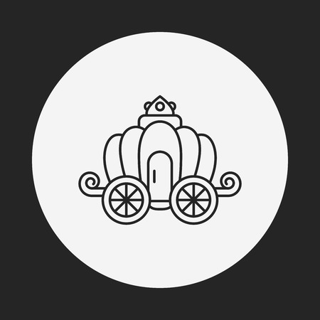 chariot: carriage line icon