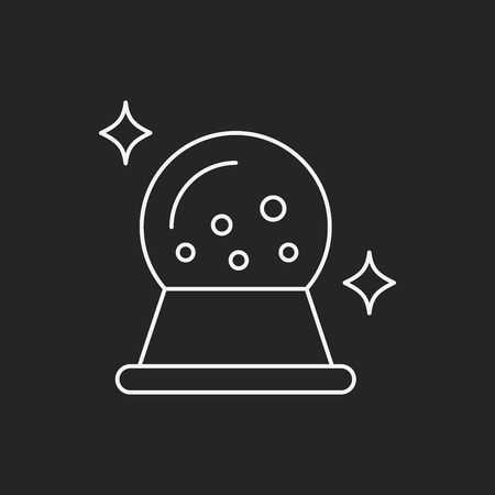gazing: crystal ball line icon