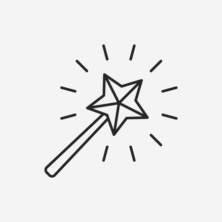 magic wand line icon
