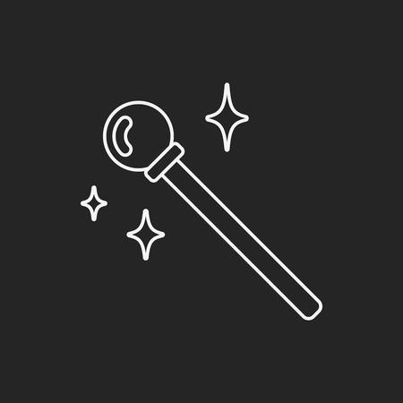 thaumaturge: magic wand line icon