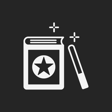 magic book: magic book icon Illustration