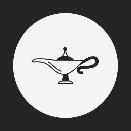lampara magica: Icono Magic Lamp Vectores