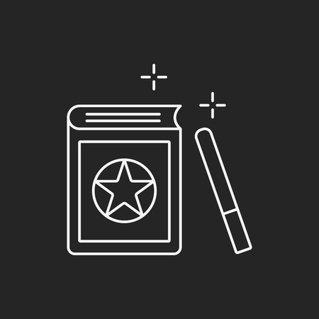 magic book: magic book line icon