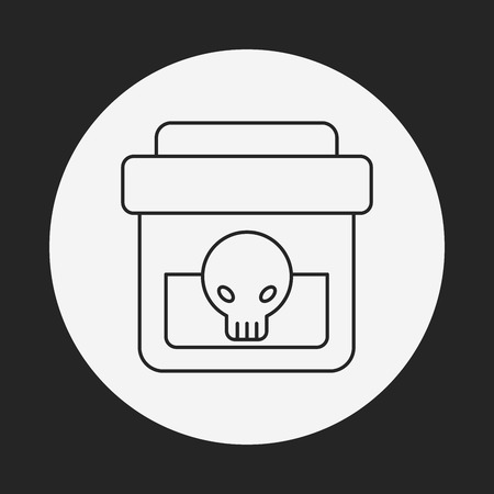 mortal: Poison line icon Illustration