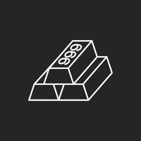 gold bullion: Gold bullion line icon