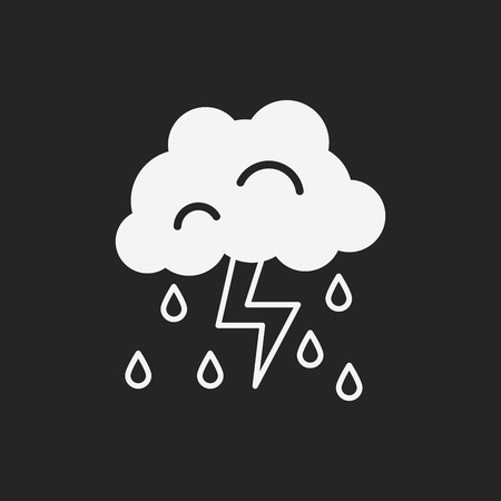 white clouds: weather icon
