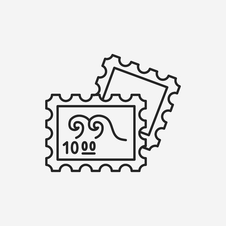 verzamelen: collect stamp line icon