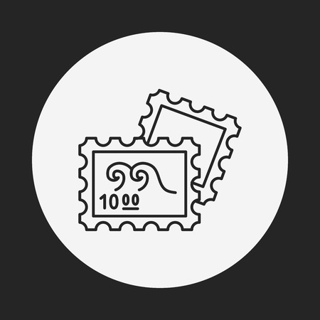 to collect: collect stamp line icon