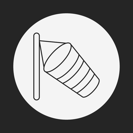 instrument of measurement: Wind measurement instrument line icon