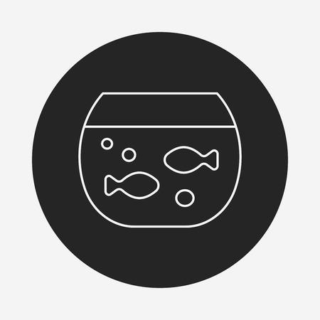 goldfish bowl: Goldfish bowl line icon