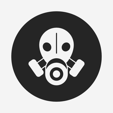 poison symbol: Gas masks icon