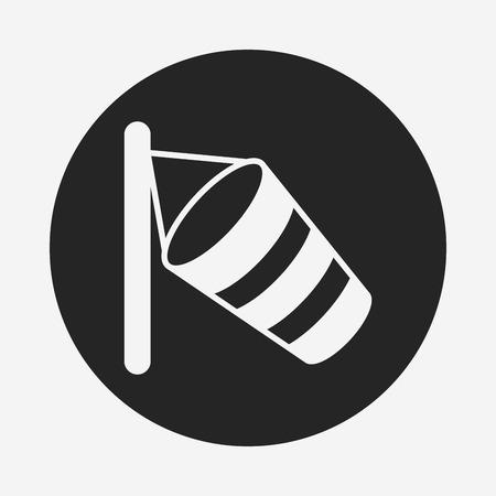 wind vane: Wind measurement instrument icon Illustration