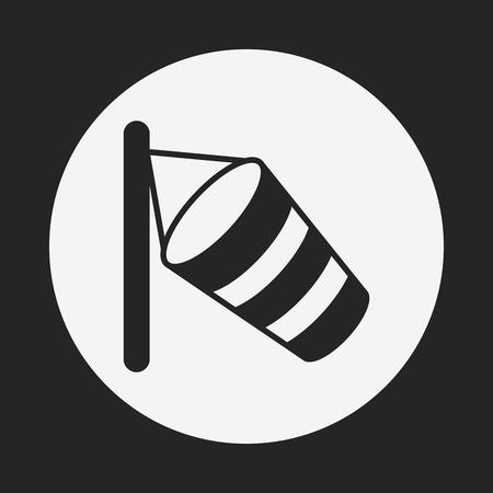 windsock: Wind measurement instrument icon Illustration