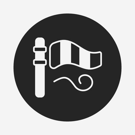 instrument of measurement: Wind measurement instrument icon Illustration
