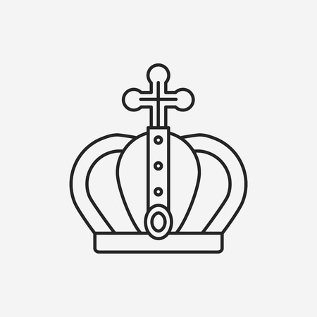 aristocracy: crown line icon Illustration