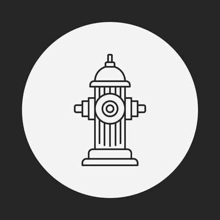 borne fontaine: Feu icône de la ligne de bouche Illustration