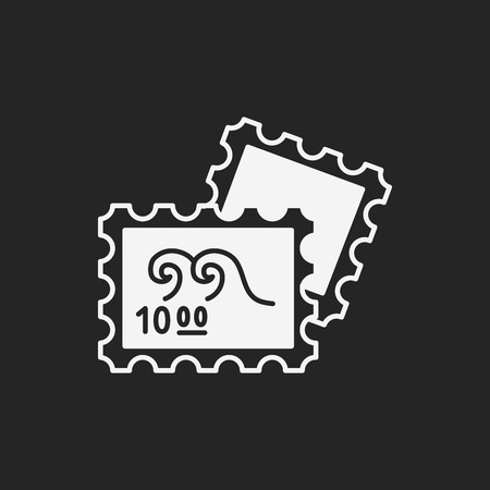 verzamelen: collect stamp icon