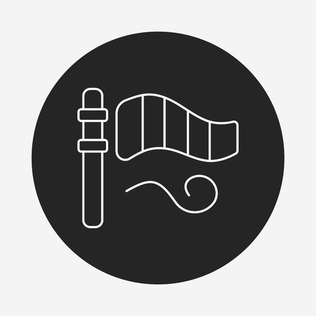anemometer: Wind measurement instrument line icon