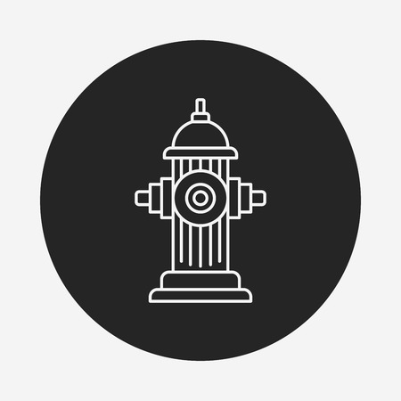 fire hydrant: Fire hydrant line icon