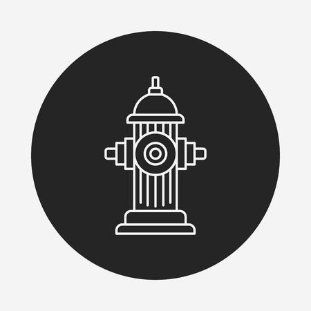 hydrant: Fire hydrant line icon