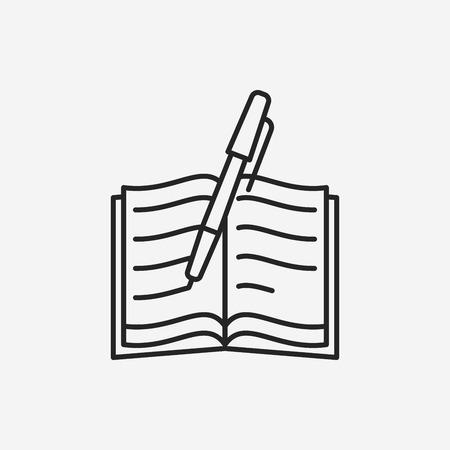 pictograph: writing line icon Illustration
