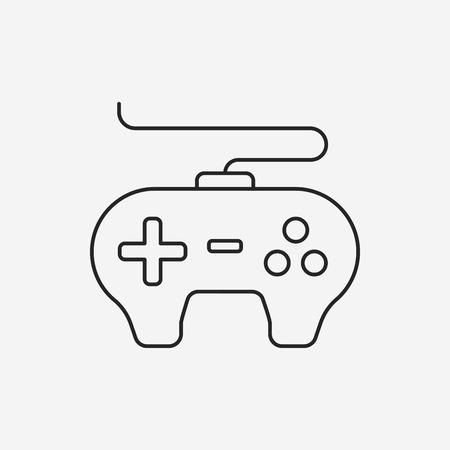 controller: game controller line icon