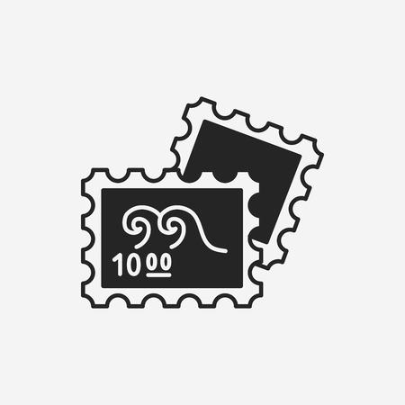 juntar: recoger icono de sello Vectores