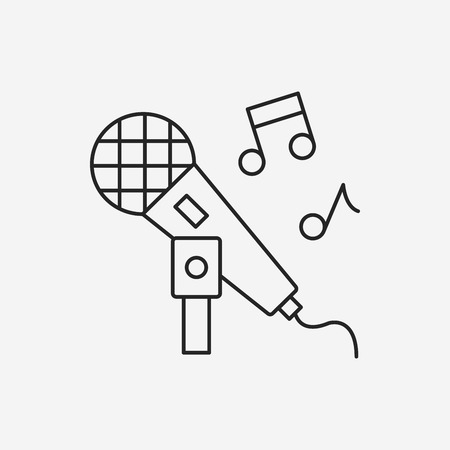 singing line icon