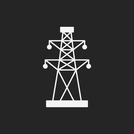 Electric Tower icon Illustration