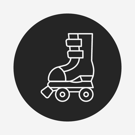 roller skate: roller skate line icon Illustration