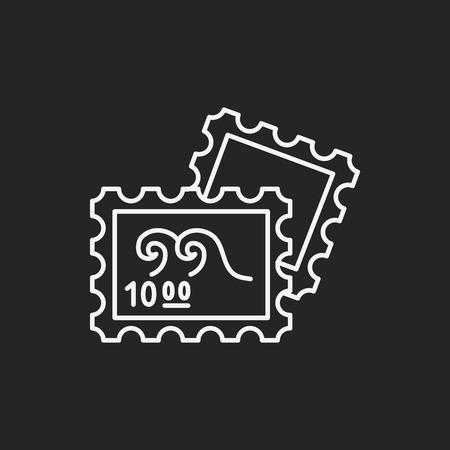 juntar: recoger icono de l�nea de timbre