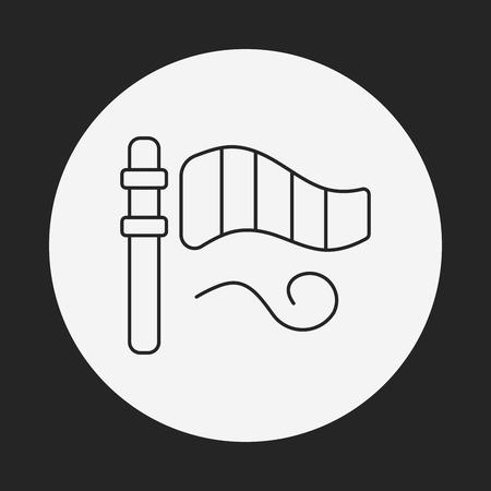 the instrument of measurement: Wind measurement instrument line icon